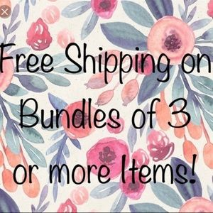 Free Shipping Plus 10% off Bundles of 3 or More